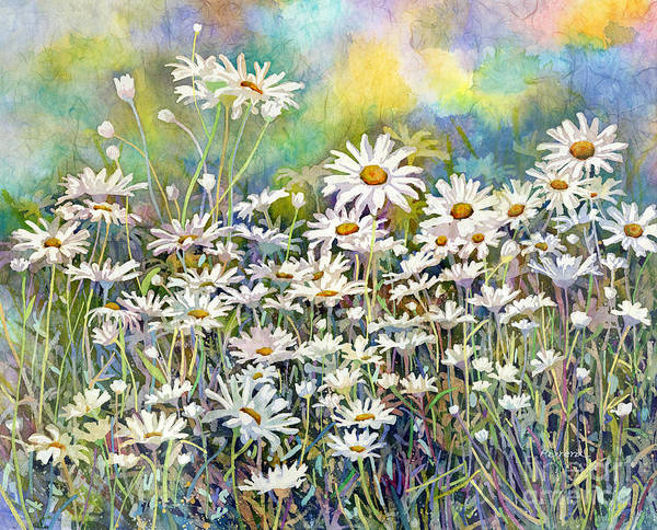 Wall Art - Painting - Dreaming Daisies by Hailey E Herrera