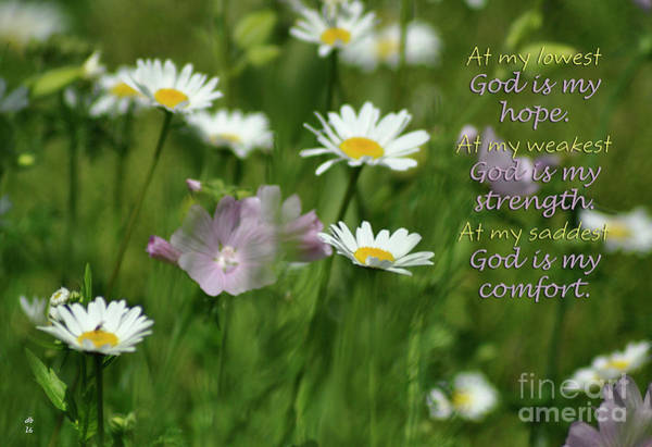Wall Art - Photograph - God Is by Diane E Berry