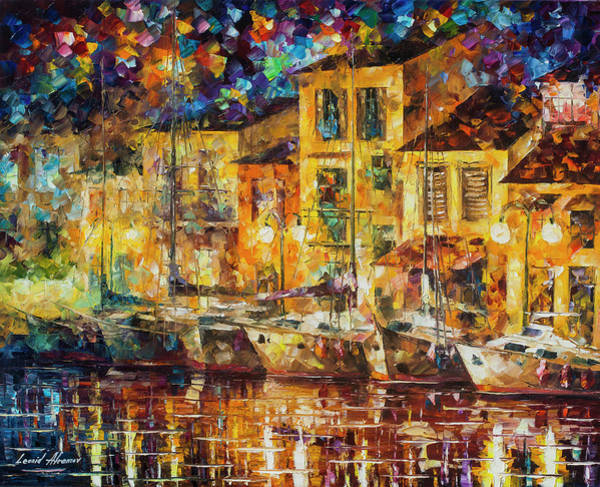 Wall Art - Painting -  Dreaming Docks  by Leonid Afremov