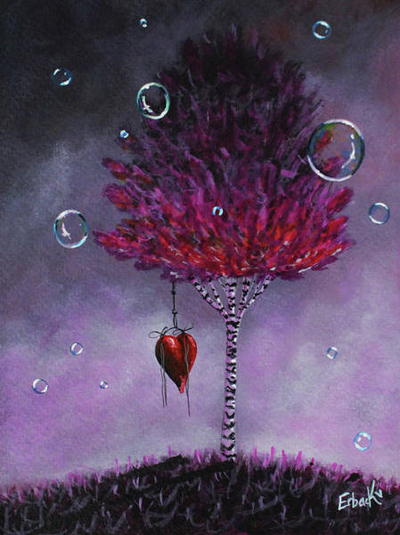 Wall Art - Painting - Dreaming Is Beautiful - Pink Tree Painting by Erback Art