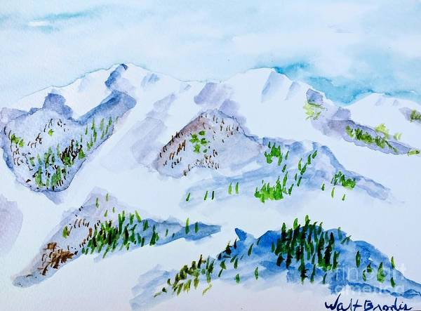 Painting - Dreaming Of A White Christmas by Walt Brodis