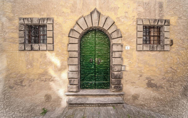 Sketch Holiday Photograph - Dreaming Of Cortona by David Letts