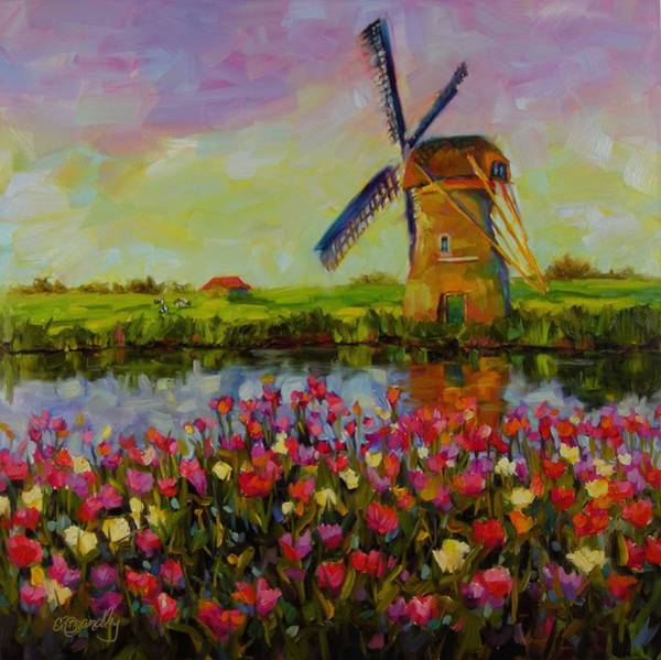 Dutch Tulip Painting - Dreaming Of Holland by Chris Brandley