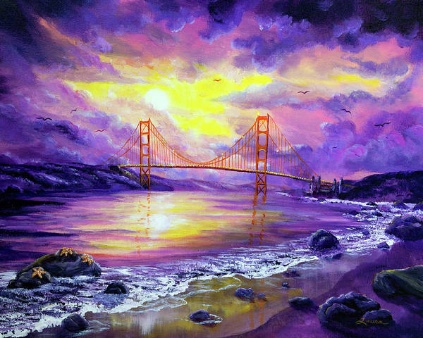 Wall Art - Painting - Dreaming Of San Francisco by Laura Iverson