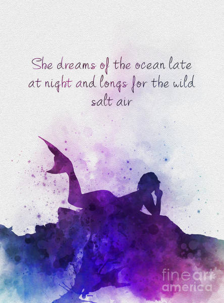 Night Mixed Media - Dreaming Of The Ocean by My Inspiration