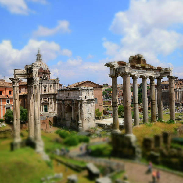 Columns Mixed Media - Dreaming Rome by Gina Dsgn