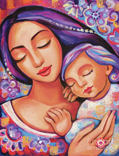 Divine Love Wall Art - Painting - Dreaming Together by Eva Campbell