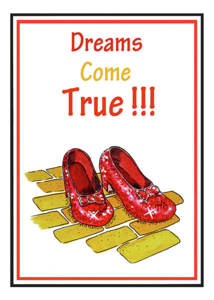 Yellow Brick Road Wall Art - Painting - Dreams Come True by Irina Sztukowski