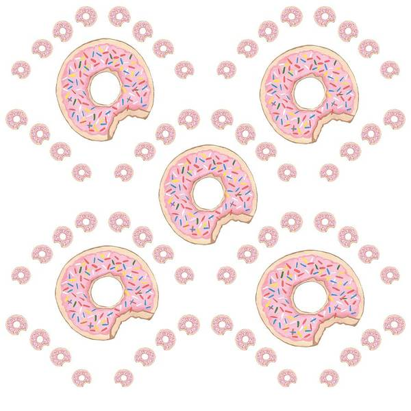 Pretty In Pink Mixed Media - Dreams Of Donuts by Kathleen Sartoris