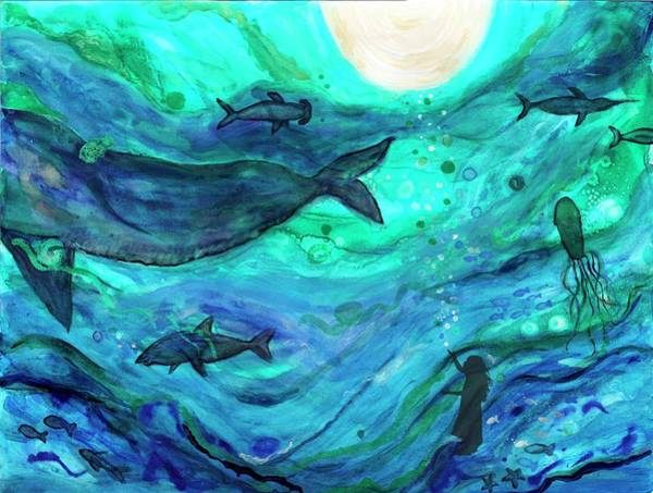 Ocean Wall Art - Painting - Dreams Of The Deep by Bridget Weber