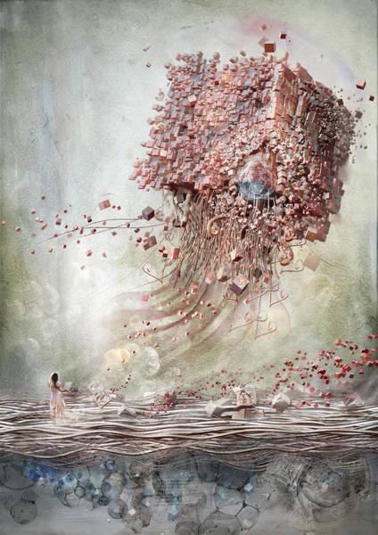 Sci-fi Digital Art - Dreamscape Flow No.1 by Te Hu