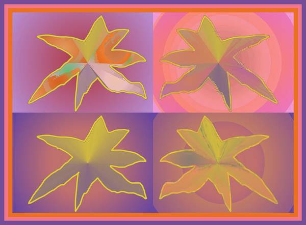 Digital Art - Dreamtime Starbirds by Julia Woodman