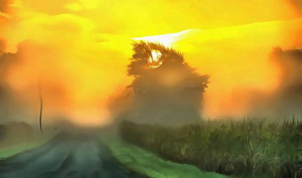 Wall Art - Painting - Dreamy Country Morning by Dan Sproul
