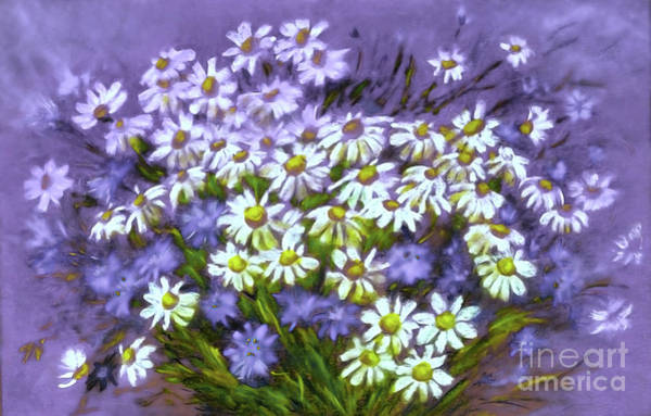 Wall Art - Digital Art - Dreamy Daisies by Jasna Dragun