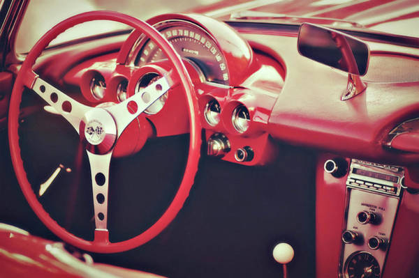 Photograph - Dreamy Little Red Corvette by Susan Maxwell Schmidt
