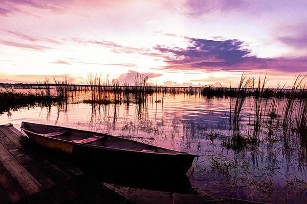 Photograph - Dreamy Nightfall At The Lake by Debra and Dave Vanderlaan