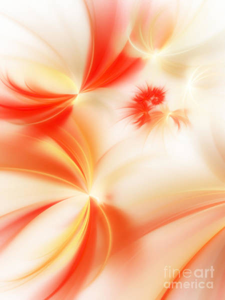 Wall Art - Digital Art - Dreamy Orange And Creamy Abstract by Andee Design