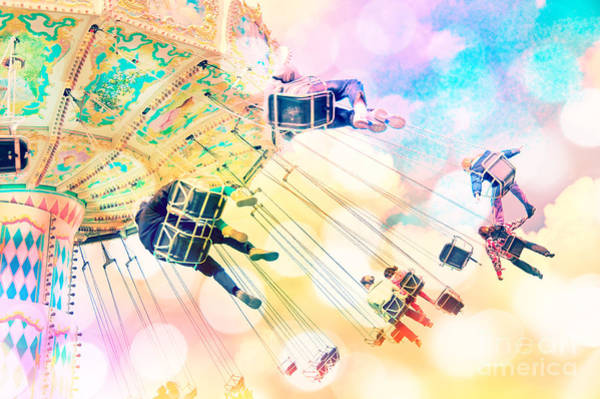Fairground Photograph - Dreamy Pastel Carnival by Delphimages Photo Creations