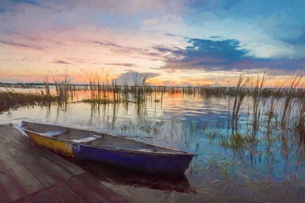 Photograph - Dreamy Sunrise Watercolors Painting by Debra and Dave Vanderlaan