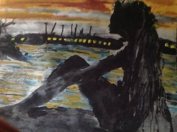 Wall Art - Photograph - Dredlocks Woman Sitting By The Ocean by Love Art Wonders By God