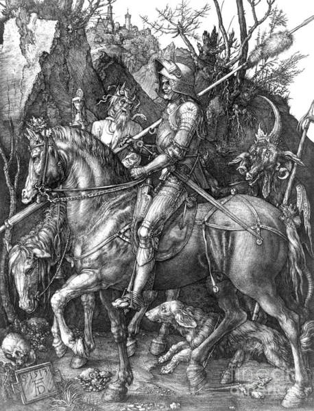 Allegory Photograph - Durer - Knight Death Devil by Granger