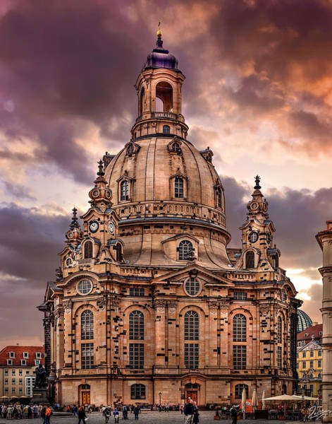 Photograph - Dresden Cathedral by Endre Balogh