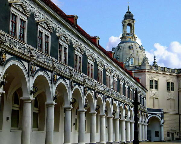 Photograph - Dresden Courtyard And Palace by Anthony Dezenzio