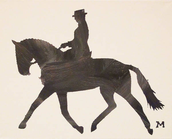 Painting - Dressage At Downton by Candace Shrope