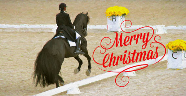 Photograph - Dressage Christmas by Alice Gipson