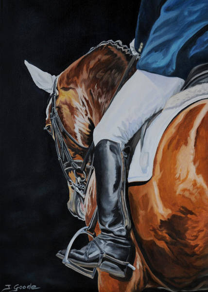 Dressage Wall Art - Painting - Dressage by Jana Goode