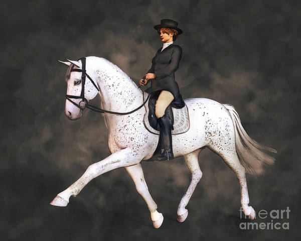 Dressage Painting - Dressage Rider by Methune Hively