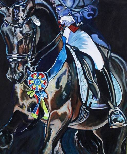 Dressage Stallion Art Print