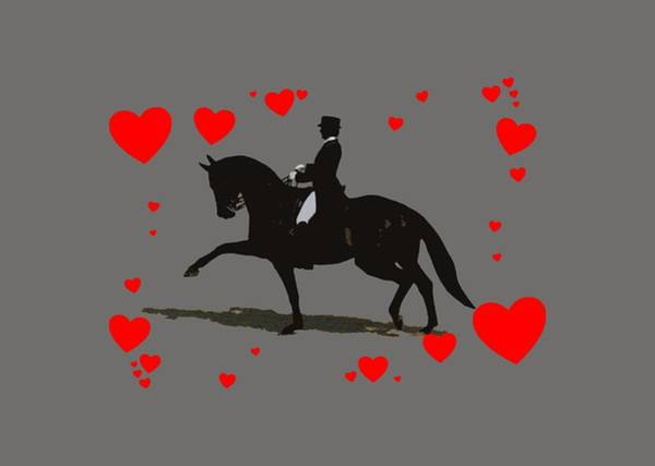 Digital Art - Dressage With Hearts by Patricia Barmatz
