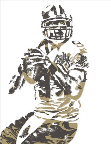 Catholic Mixed Media - Drew Brees New Orleans Saints Pixel Art 7 by Joe Hamilton