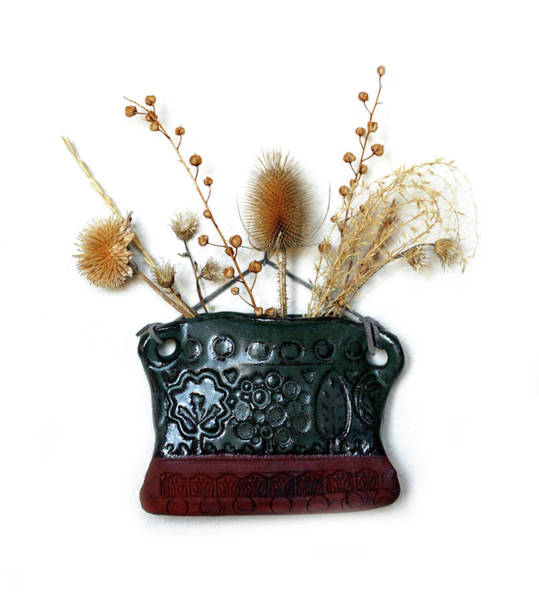 Wall Art - Photograph - Dried Flowers In Pocket Vase by Marilyn Hunt