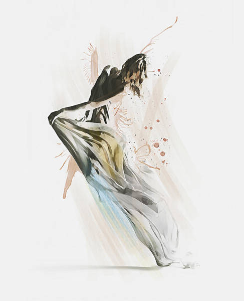 Digital Art - Drift Contemporary Dance by Galen Valle