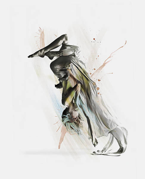 Digital Art - Drift Contemporary Dance Two by Galen Valle