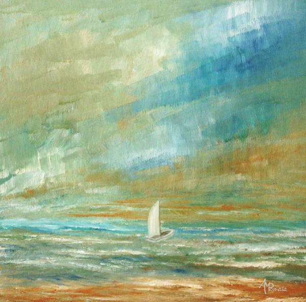 Painting - Drifting Alone by Angeles M Pomata