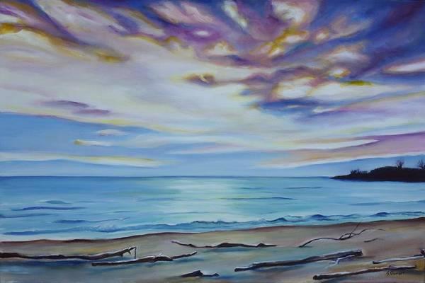 Sand Creek Painting - Drifting To Port Stanley II by Sheila Diemert