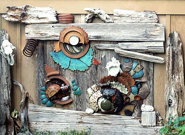 Photograph - Driftwood And Ceramic Wall Sculpture by Delores Malcomson