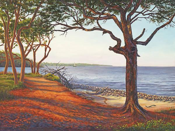 Jekyll Island Painting - Driftwood Beach I, Jekyll Island, Ga by Elaine Farmer