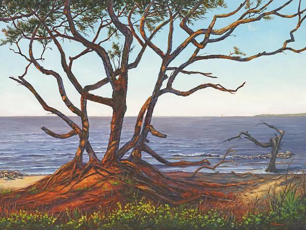 Jekyll Island Painting - Driftwood Beach II, Jekyll Island, Ga by Elaine Farmer