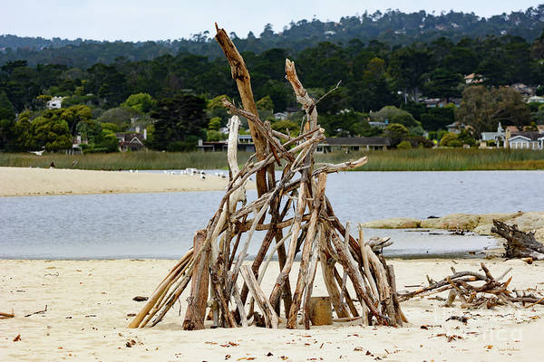Photograph - Driftwood Tipi With A View by Susan Wiedmann
