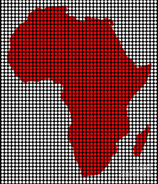 Perforations Digital Art - Drilled Plate Africa Map by Bigalbaloo Stock