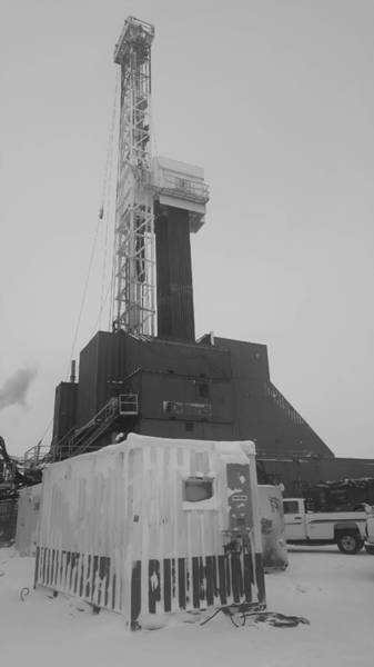 Drilling Rig Photograph - Drilling For Black Gold by Britten Adams