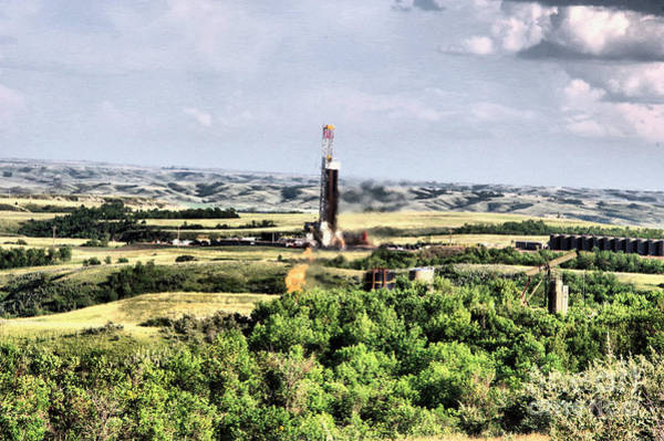 Wall Art - Photograph - Drilling In The Bakken by Jeff Swan