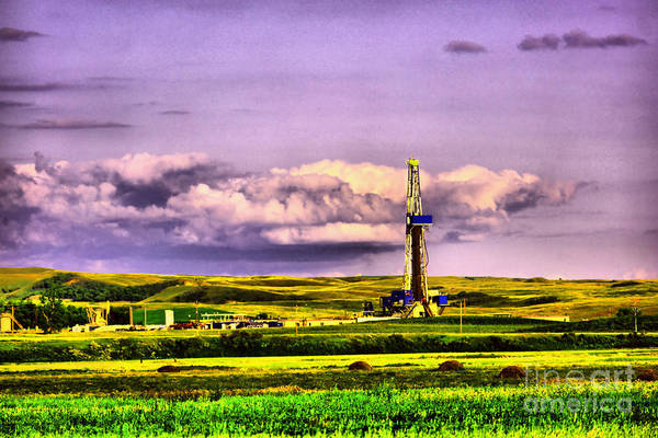 Wall Art - Photograph - Drilling Near Keane North Dakota by Jeff Swan