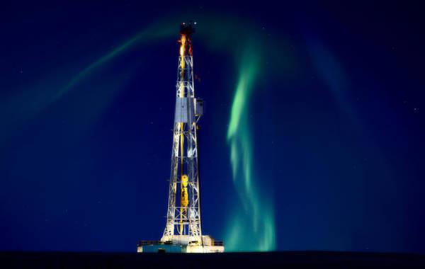 Drilling Rig Photograph - Drilling Rig Potash Mine Canada by Mark Duffy