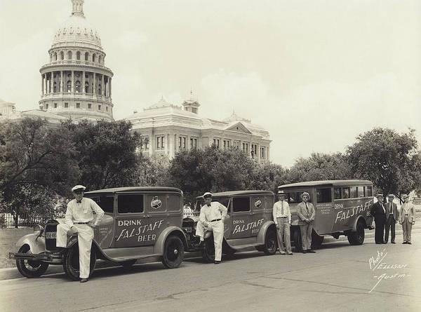 Wall Art - Photograph - Drink Falstaff Beer - Texas  C. 1934 by Daniel Hagerman
