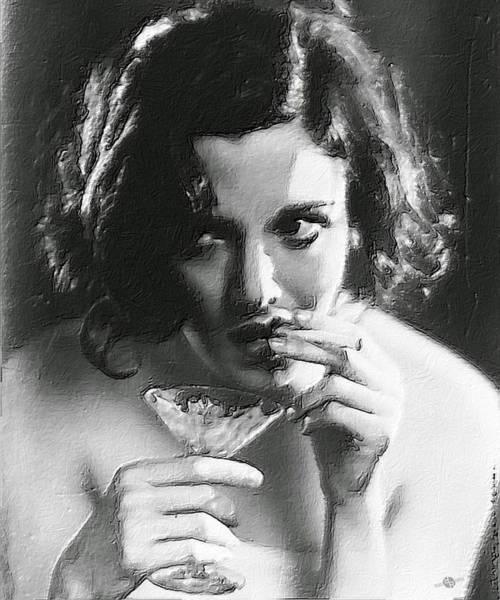 Alcoholism Painting - Drink by Tony Rubino